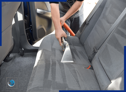 a man cleaning car seat | A & K Cleaning